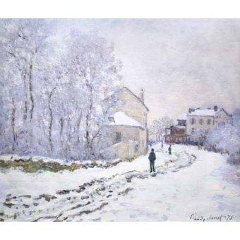 Cuadro -Nevada en Argenteuil, 1875- - Monet, Claude