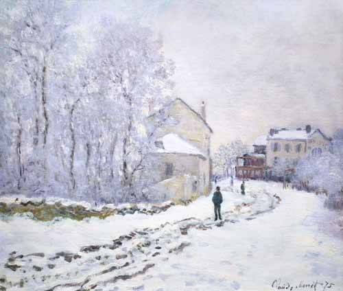 cuadros-de-paisajes - Cuadro -Nevada en Argenteuil, 1875- - Monet, Claude