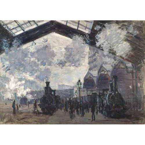 cuadros de paisajes - Cuadro -La Estacion de Saint Lazare en Paris, 1877-