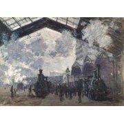 Cuadro -La Estacion de Saint Lazare en Paris, 1877-