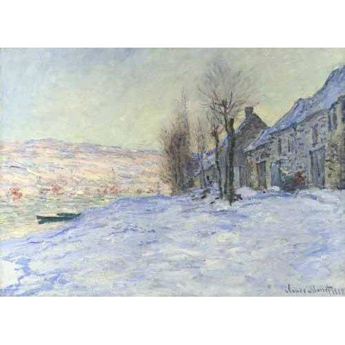 Cuadro -Lavacourt bajo la nieve, 1879-