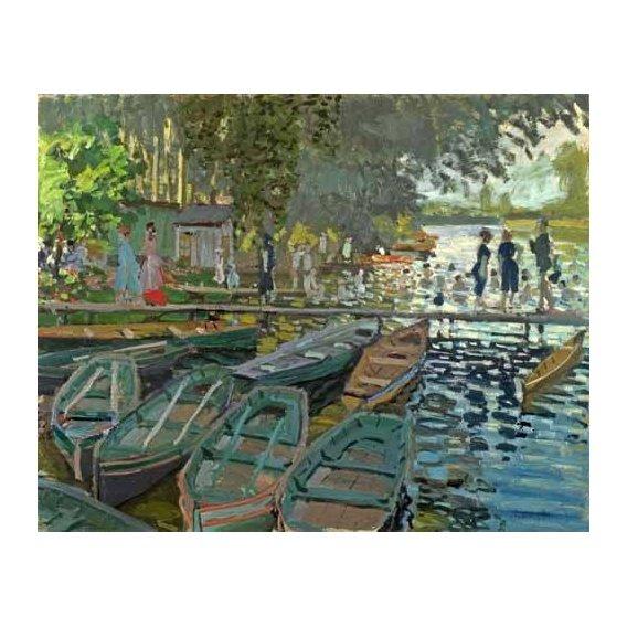 cuadros de paisajes - Cuadro -Bathers at la Grenouillère, 1869-