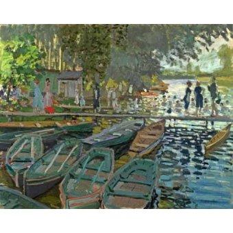 Cuadro -Bathers at la Grenouillère, 1869- - Monet, Claude