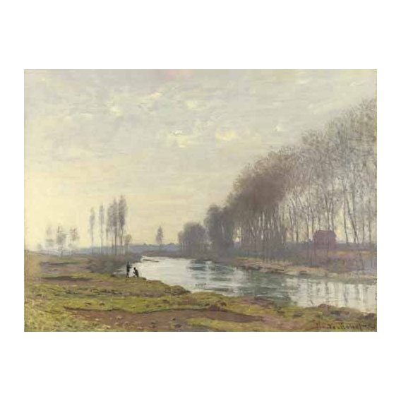 cuadros de paisajes - Cuadro -Le petit bras de la Seine a Argenteuil, 1872-