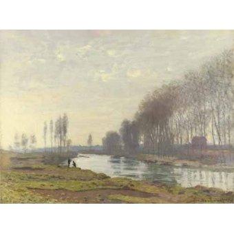 Cuadro -Le petit bras de la Seine a Argenteuil, 1872- - Monet, Claude