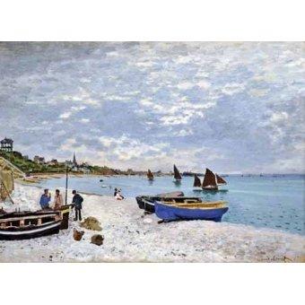 cuadros de marinas - Cuadro -La spiaggia a Saint-Adresse, 1867- - Monet, Claude