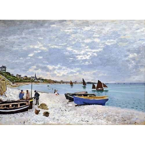 Cuadro -La spiaggia a Saint-Adresse, 1867-