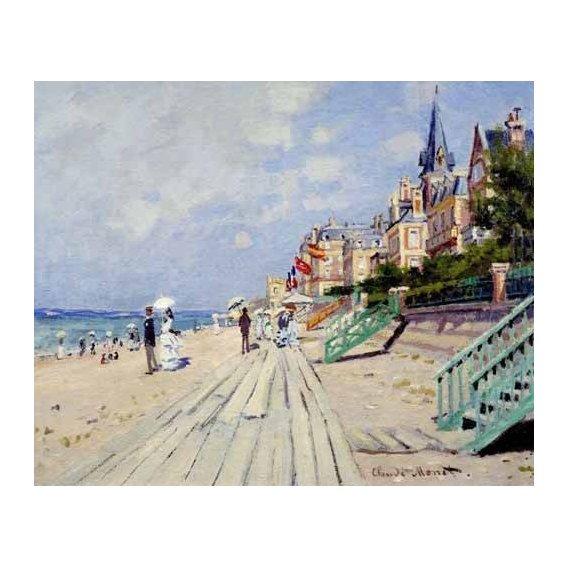 cuadros de marinas - Cuadro -La spiaggia a Trouville, 1870-