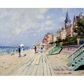 Hall - Cuadro -La spiaggia a Trouville, 1870- - Monet, Claude