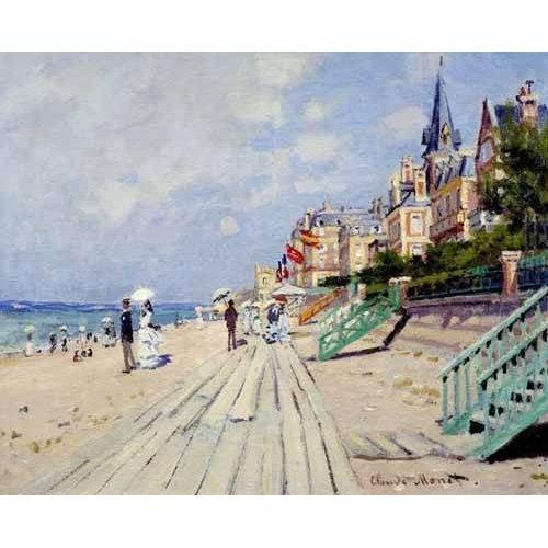 Cuadro -La spiaggia a Trouville, 1870-
