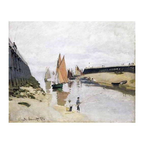 cuadros de marinas - Cuadro -La Entrada Del Puerto de Trouville, 1870-