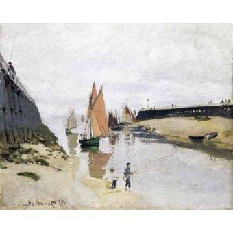 cuadros de marinas - Cuadro -La Entrada Del Puerto de Trouville, 1870- - Monet, Claude