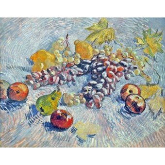 - Cuadro -Grapes, Lemons, Pears, and Apples, 1887- - Van Gogh, Vincent