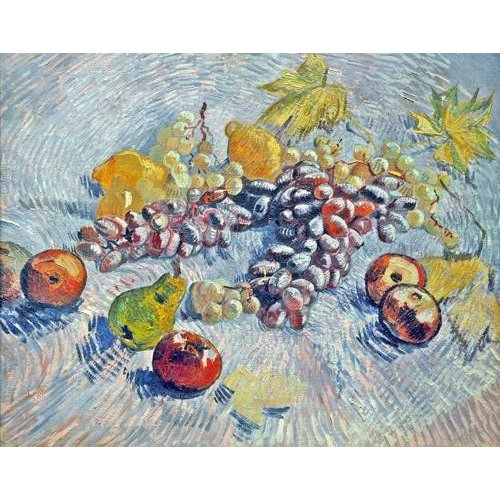 Cuadro -Grapes, Lemons, Pears, and Apples, 1887-