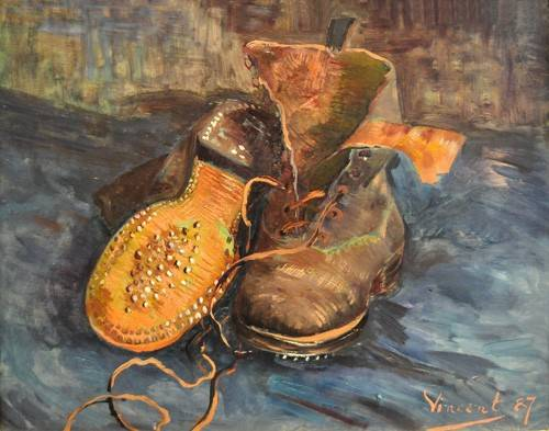 cuadros-de-bodegones - Cuadro -A Pair of Boots- - Van Gogh, Vincent