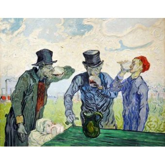 - Cuadro -The Drinkers, 1890- - Van Gogh, Vincent
