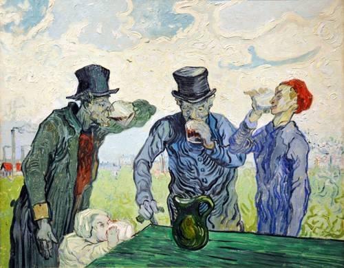 cuadros-de-retrato - Cuadro -The Drinkers, 1890- - Van Gogh, Vincent