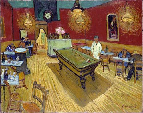 cuadros-de-retrato - Cuadro -The Night Cafe, 1888- - Van Gogh, Vincent