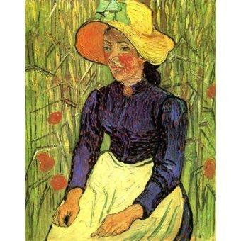 - Cuadro -La campesina- - Van Gogh, Vincent