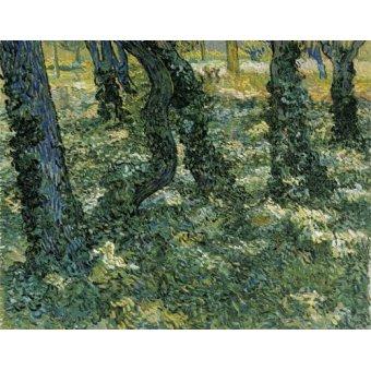 - Cuadro -Undergrowth, 1889- - Van Gogh, Vincent