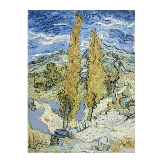 cuadros de paisajes - Cuadro -The Poplars at Saint-Remy, 1889-
