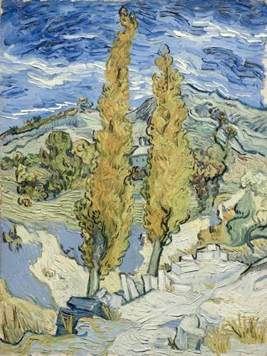 cuadros-de-paisajes - Cuadro -The Poplars at Saint-Remy, 1889- - Van Gogh, Vincent