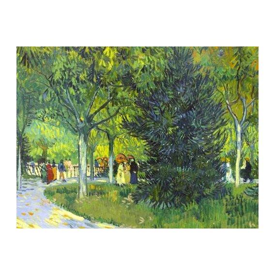 cuadros de paisajes - Cuadro -Path in the park, 1888-