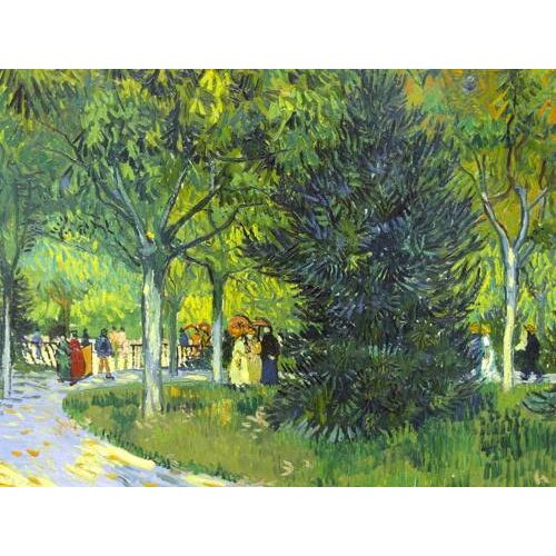 Cuadro -Path in the park, 1888-