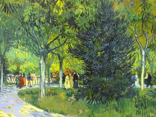 cuadros-de-paisajes - Cuadro -Path in the park, 1888- - Van Gogh, Vincent