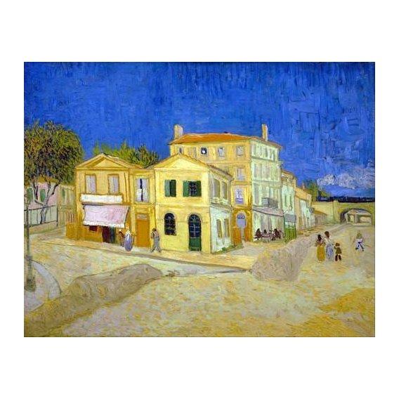 cuadros de paisajes - Cuadro -The yellow house, 1888-