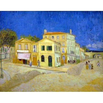 - Cuadro -The yellow house, 1888- - Van Gogh, Vincent