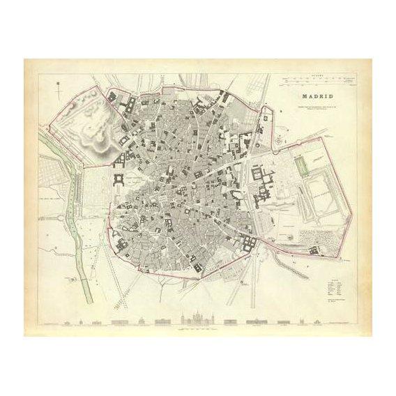cuadros de mapas, grabados y acuarelas - Cuadro -Madrid 1831-
