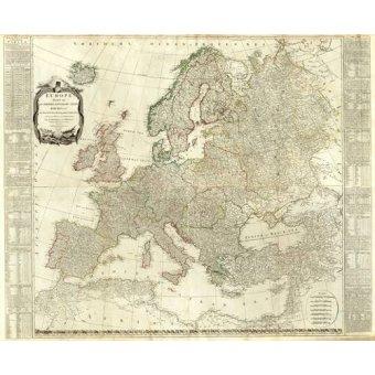 cuadros de mapas, grabados y acuarelas - Cuadro -Europa (1787)- - Mapas antiguos - Anciennes cartes
