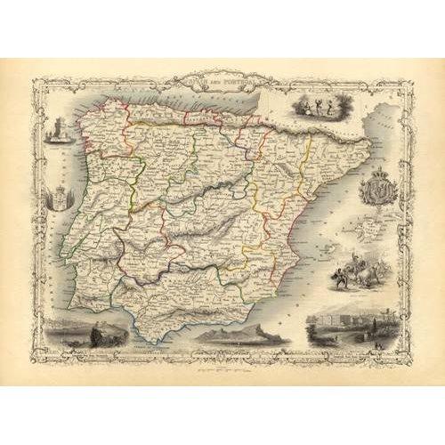Cuadro -España y Portugal (1851)-