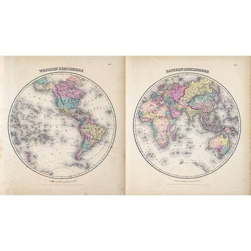 Cuadro -Hemisferios Este y Oeste (1855)-