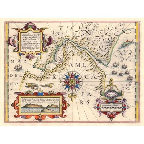 Cuadro -Estrecho de Magallanes (Jodocus Hondius)-