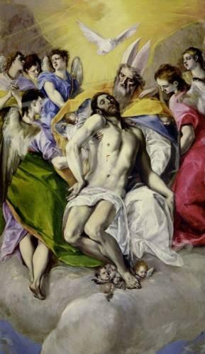 cuadros-religiosos - Cuadro -Trinidad- - Greco, El (D. Theotocopoulos)