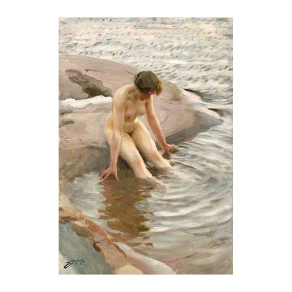 cuadros de desnudos - Cuadro -Wet, 1910-