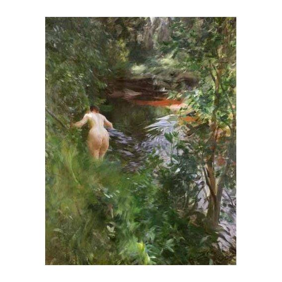 cuadros de desnudos - Cuadro -In Gopsmor, 1905-