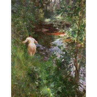 cuadros de desnudos - Cuadro -In Gopsmor, 1905- - Zorn, Anders