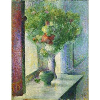 - Cuadro -Still life with a bunch of flowers by the window- - Herrmann, Curt