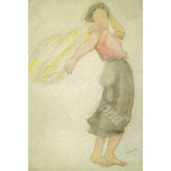 - Cuadro -The Wind- - Rodin, Auguste