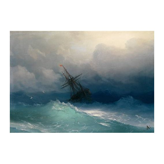cuadros de marinas - Cuadro -Ship on Stormy Seas-