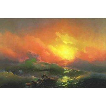 cuadros de marinas - Cuadro -The Ninth Wave- - Aivazovsky, Ivan Konstantinovich