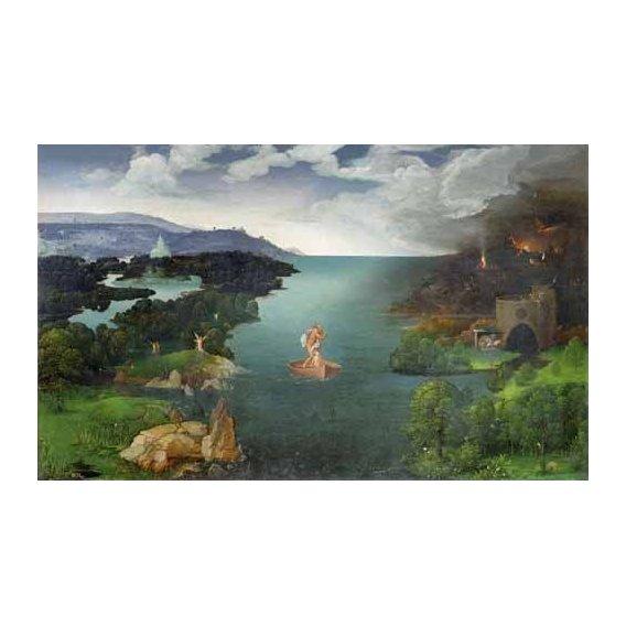 cuadros de paisajes - Cuadro -El paso de la laguna Estigia-