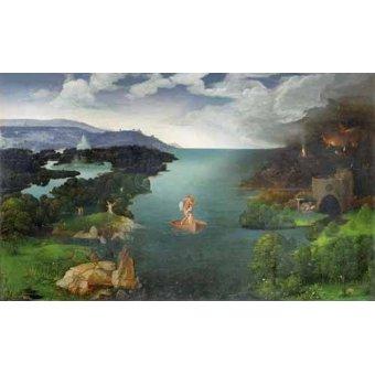 - Cuadro -El paso de la laguna Estigia- - Patinir, Joachim