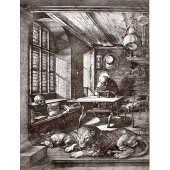 - Cuadro -San Jeronimo en su estudio- - Dürer, Albrecht (Albert Durer)