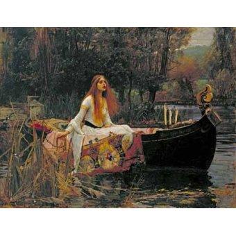 - Cuadro -The Lady of Shallott, 1888- - Waterhouse, John William