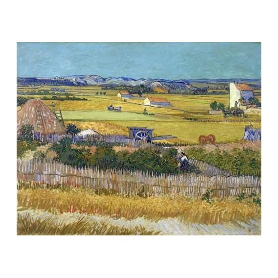 cuadros de paisajes - Cuadro -The harvest, 1888-