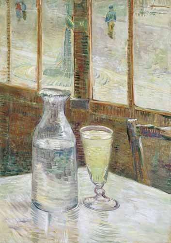 cuadros-de-bodegones - Cuadro -Cafe table with absinth, 1887- - Van Gogh, Vincent